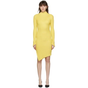 Coperni Yellow Viscose Mix Motion Dress