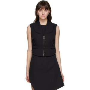 Coperni Black Open Back Zip-Up Vest
