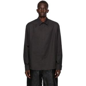 We11done Black Print Shirt