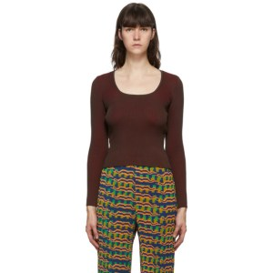 Julia Heuer Brown and Red Griselda Blouse