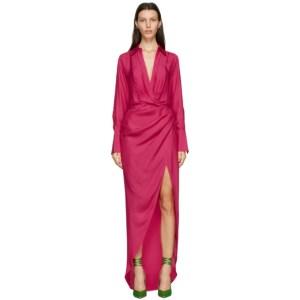 Gauge81 Pink Silk Naha Long Dress
