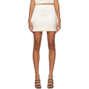 Gauge81 White Mani Miniskirt
