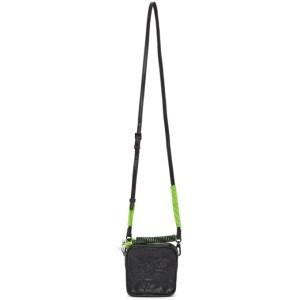 Li-Ning Black Mini Faux-Leather Bag