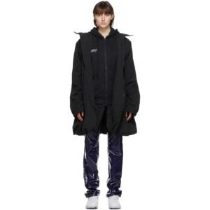 Juun.J Black Reebok Edition Windbreaker Jacket