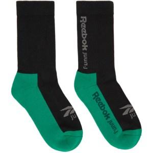 Juun.J Black Reebok Edition Jersey Socks