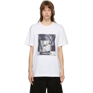 Juun.J White Graphic T-Shirt