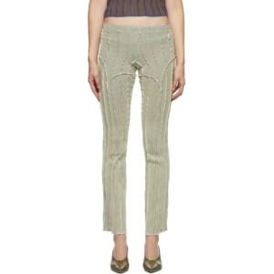Helenamanzano SSENSE Exclusive Off-White and Blue 3D Stripe Lounge Pants