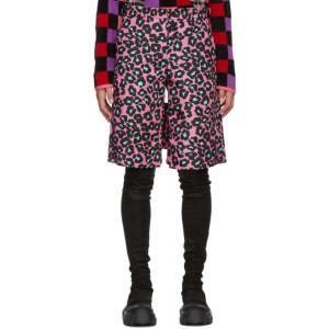 Comme des Garcons Homme Plus Pink Animal Shorts