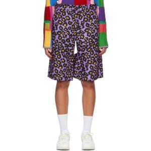 Comme des Garcons Homme Plus Purple Animal Shorts