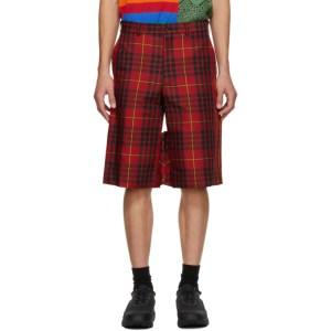 Comme des Garcons Homme Plus Red Tartan Shorts