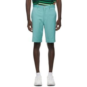 Comme des Garcons Homme Plus Green Wool Gabardine Shorts