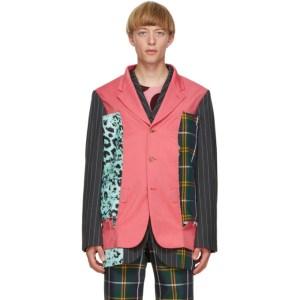 Comme des Garcons Homme Plus Multicolor Wool and Silk Blazer