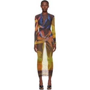 Louisa Ballou SSENSE Exclusive Orange High Tide Dress