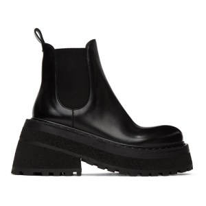 Marsell Black Carretta Beatles Chelsea Boots
