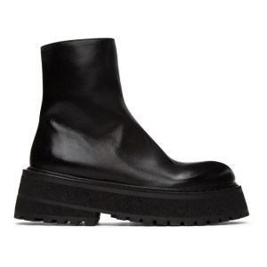 Marsell Black Carretta Zip-Up Boots