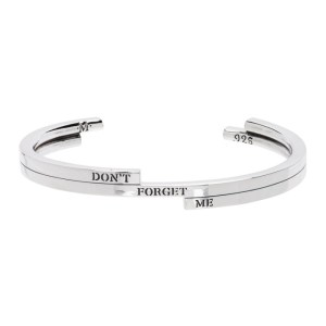 Martyre Silver Dont Forget Me Cuff Bracelet