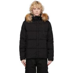 C.P. Company Black Down Fur Taylon Jacket