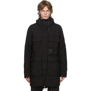 C.P. Company Black Nylon Long Jacket