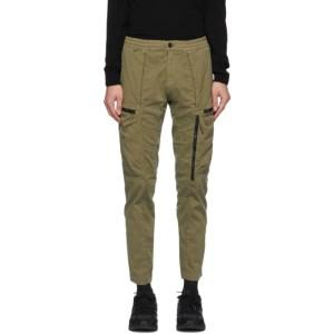 C.P. Company Green Pleated Cargo Pants