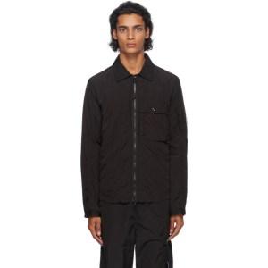 C.P. Company Black Nylon Cargo Over Shirt Jacket