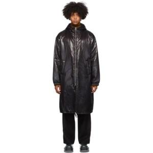 Dries Van Noten Black Shiny Long Coat