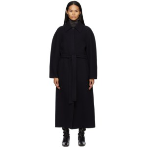 The Row Navy Wool Arlo Coat