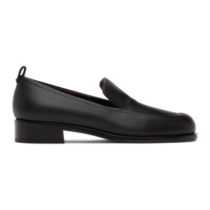 The Row Black Penny Loafers