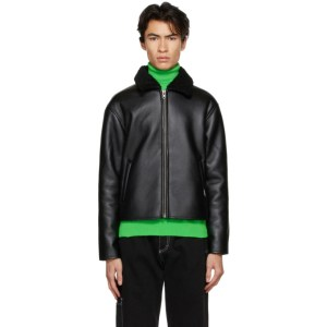 Rassvet Black Faux-Leather Jacket