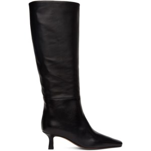 NEOUS Black Leather Cynis Boots