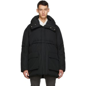 Cornerstone Black Down Hooded Jacket