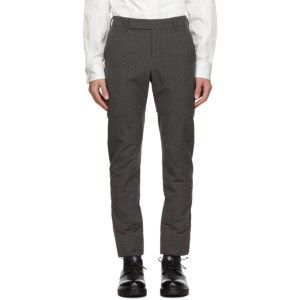 Cornerstone Grey Wool Paneled Trousers