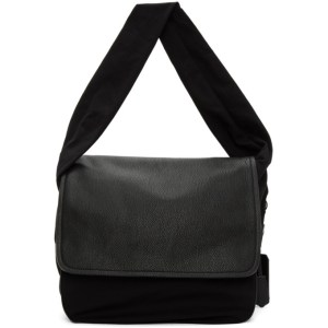 Neil Barrett Black Oversized Satchel Messenger Bag