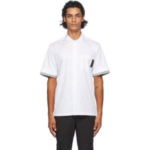 Neil Barrett White Front Pocket Stripe Shirt