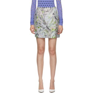 Maisie Wilen Blue Call Me Mini Skirt