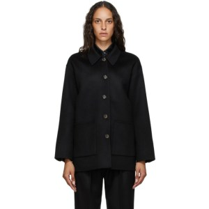 Arch The SSENSE Exclusive Black Silk and Cashmere Jacket
