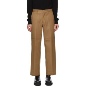Andersson Bell Tan Double Knee Wide Trousers