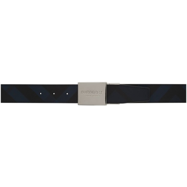 Burberry Reversible Navy and Black Plaque Belt