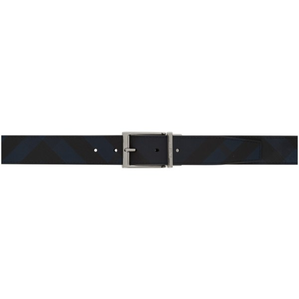 Burberry Reversible Black and Navy Check Belt