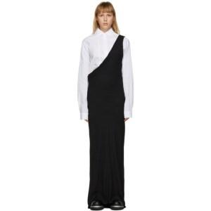 Ann Demeulemeester Black Viscose One-Shoulder Dress