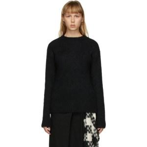 Ann Demeulemeester Black Alpaca and Merino Sweater