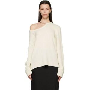 Ann Demeulemeester Off-White Wool Oversized Sweater