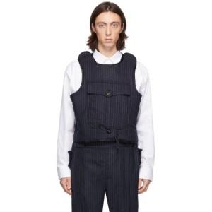 Boramy Viguier Navy Wool Atlas Vest