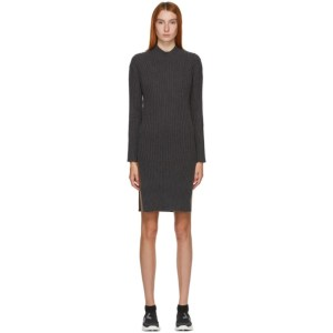 Kenzo Grey Ribbed Short Dress