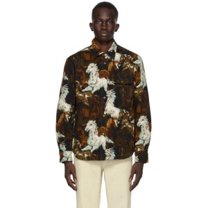 Kenzo Black and Brown Chevaux Jacket