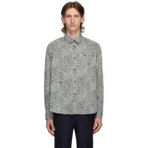 Kenzo Green and Black Graphic Casual Shirt