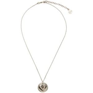 Ludovic de Saint Sernin Silver Broken Heart Medallion Necklace