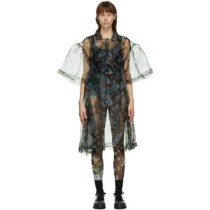 Henrik Vibskov Black Floral Balsam Dress