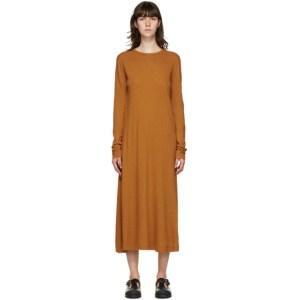 Rika Studios Orange Grace Long Sleeve Dress
