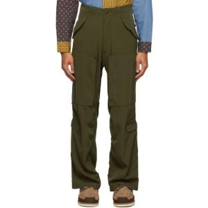 BEAMS PLUS Khaki Military Zip Trousers