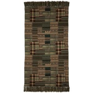 BEAMS PLUS Black and Brown Knit Blanket